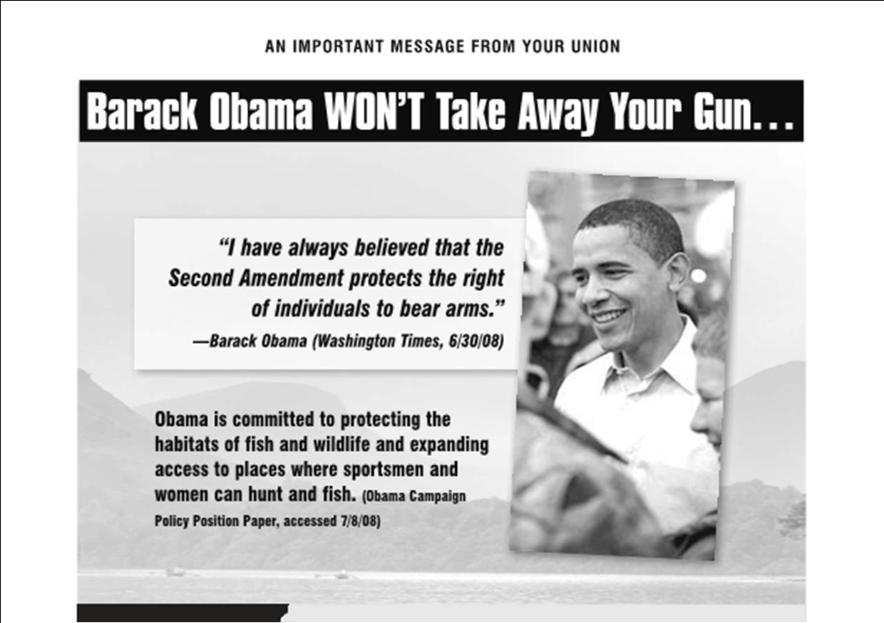 Pro Gun Quotes Did Union Bosses Lie To Their Members About Obama's Gun Control