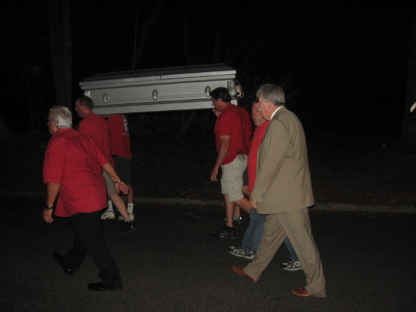 Too Far? CWA Picketers Stage Mock Funeral, Carry Coffins Outside