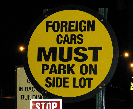 UAW Foreign Cars Sign