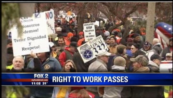 Michigan was the last state that passed a Right-To-Work law.