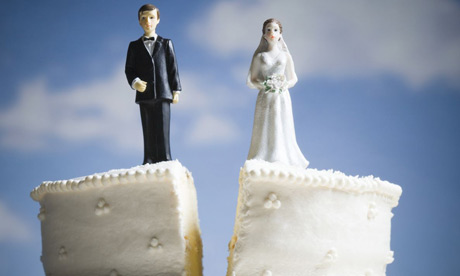 Divorce - wedding cake