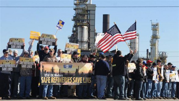 Oil refinery strike