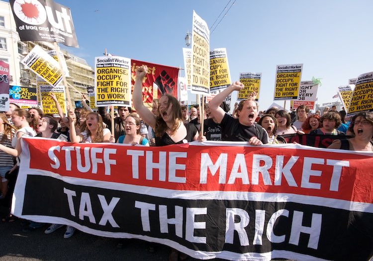 Tax the Rich Protesters