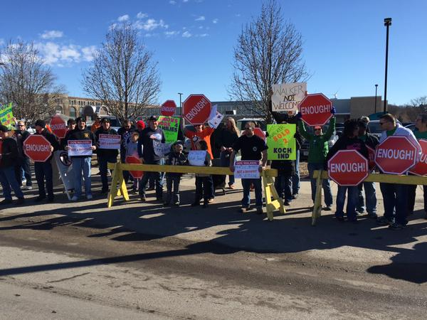 Walker's Stalkers: Wisconsin Governor draws crowds (and protesters) in primary states