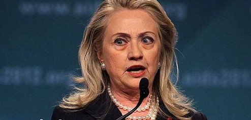 hillary clinton Cross-eyed