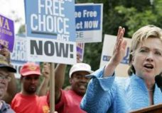 Clinton's Vow To Union Bosses: If Elected, Card Check, Binding Arbitration Bill Will Be Resurrected
